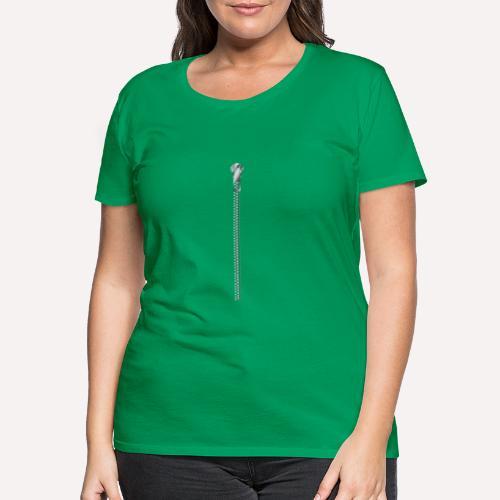 Zipper Funny Surprising T-shirt, Hoodie,Cap Print - Women's Premium T-Shirt