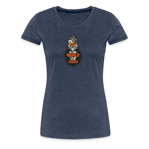 tete de mort citation hipster skull crane humour w - T-shirt Premium Femme
