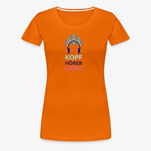 kopfhoererliebe bunt - Frauen Premium T-Shirt
