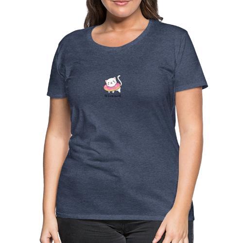 Süße Katze mit Donut - Frauen Premium T-Shirt