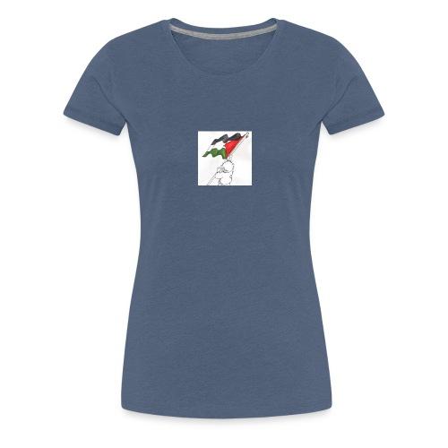 Hvid hættetrøje - Dame premium T-shirt