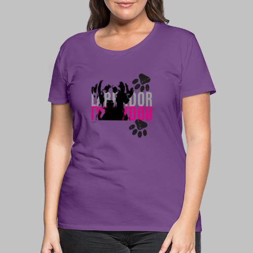 Labrador Kopf Pfoten - Frauen Premium T-Shirt