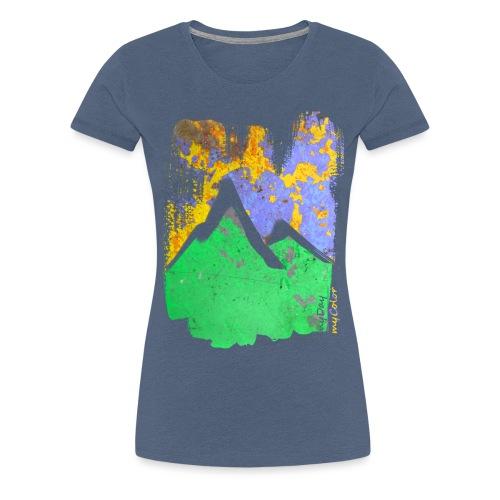 BergAbend - Frauen Premium T-Shirt