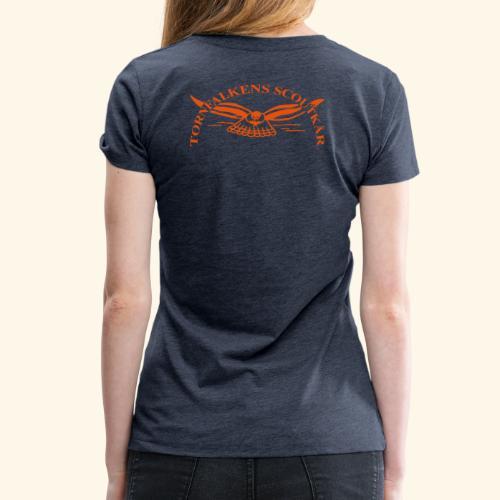 Tornfalkens scoutkår Logo - Premium-T-shirt dam