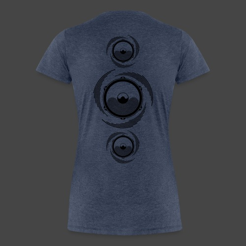 Haut-parleur Noir Spirale - T-shirt Premium Femme
