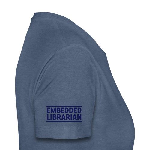 embedded librarian   zweizeilig mit linien - Frauen Premium T-Shirt