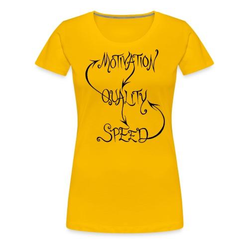 MQS (black) - Premium-T-shirt dam