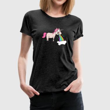 kotzendes Einhorn - Frauen Premium T-Shirt