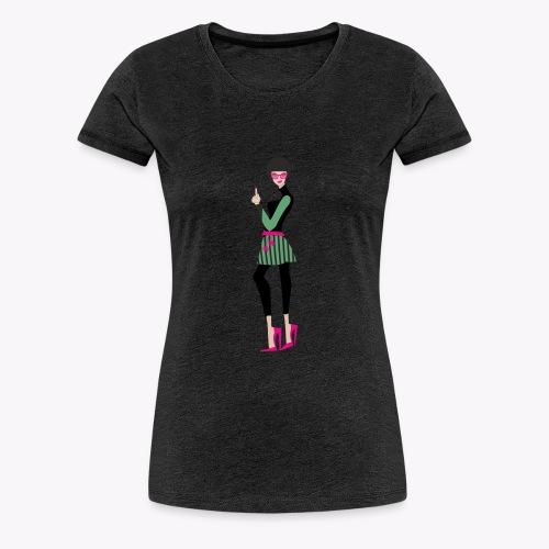 mujer_falda_afro - Camiseta premium mujer