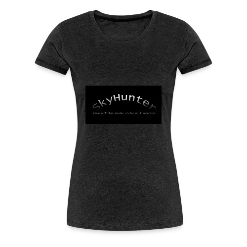 SkyHunter Logo Black - Frauen Premium T-Shirt