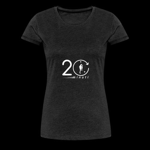 LOGO 20minuti white - Maglietta Premium da donna