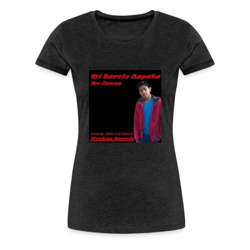 Camiseta Mc Gamez Mi Barrio Zapata - Camiseta premium mujer
