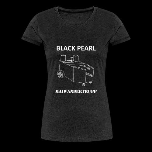 Bollerwagenemblem + MAIWANDERTRUPP in weiß - Frauen Premium T-Shirt