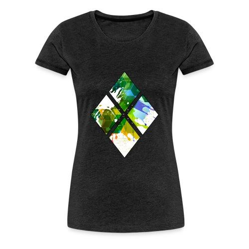 4-Diamanten-Grün - Frauen Premium T-Shirt