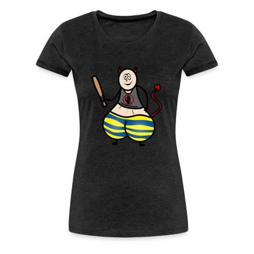 Devil No Touchies Charlie - Women's Premium T-Shirt