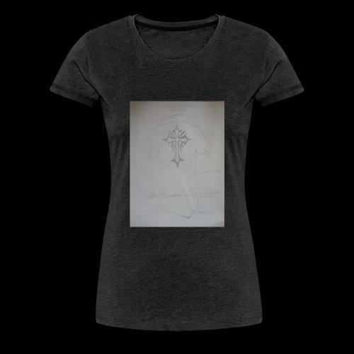 QualamTarash Rückenkreuz - Frauen Premium T-Shirt