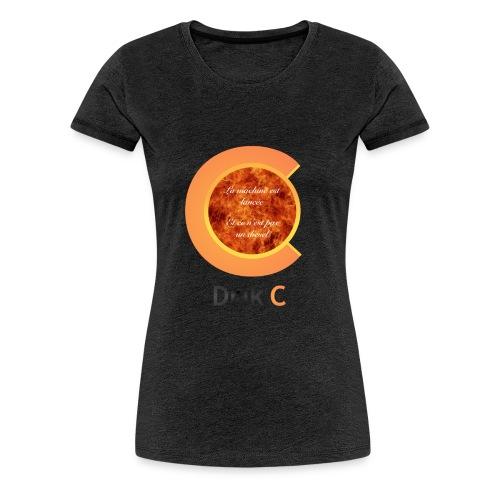 La machine est lancée et ce n'est pas un diesel; - T-shirt Premium Femme