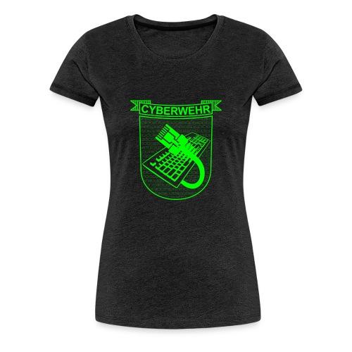 Cyberwehr Wappen - Frauen Premium T-Shirt