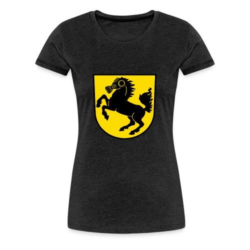 Stuttgart Wappen Feinstaub-Rössle - Frauen Premium T-Shirt