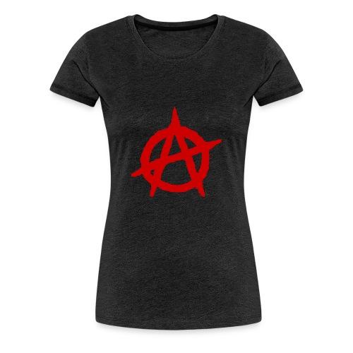 Anarchy logo rosso - Maglietta Premium da donna