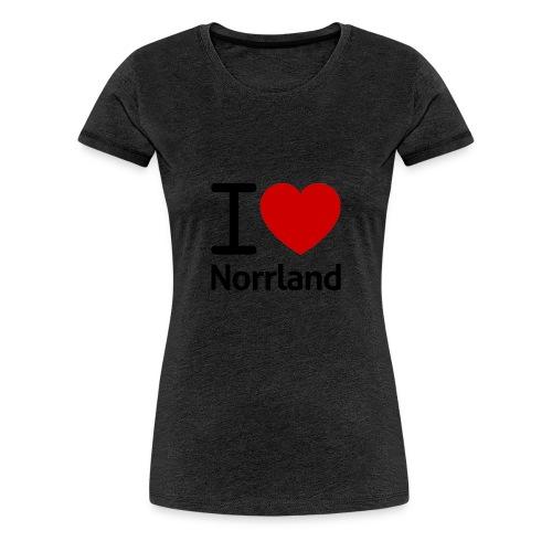 Jag Älskar Norrland (I Love Norrland) - Premium-T-shirt dam