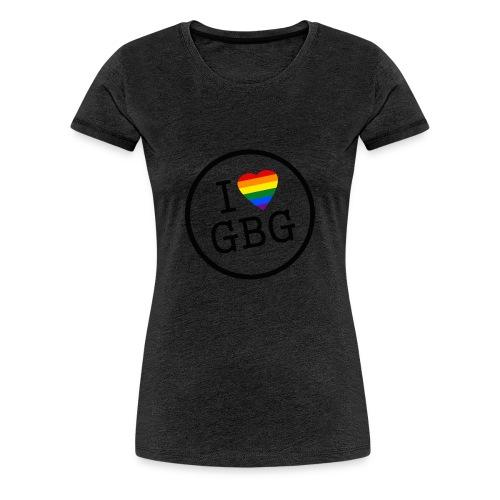 I Love Gbg - tygkasse - Premium-T-shirt dam