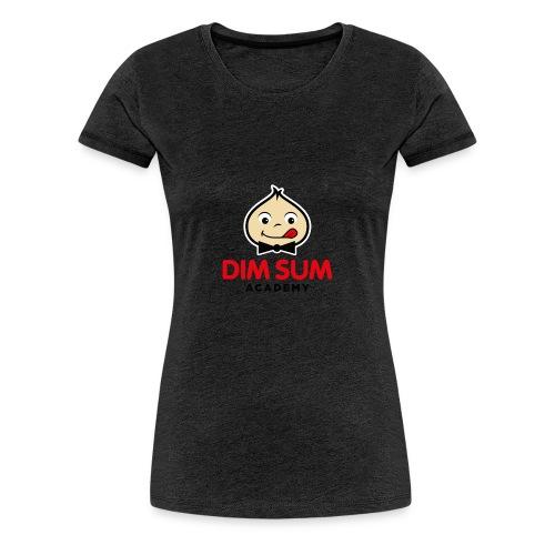 Dim Sum Academy Logo noir - T-shirt Premium Femme