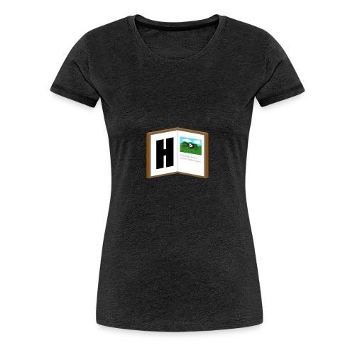 Hyttebok Logo - Premium T-skjorte for kvinner