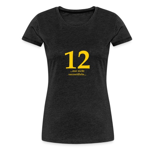 12gelb - Frauen Premium T-Shirt
