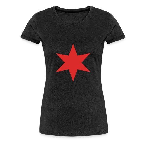Red Chicago Star - Women's Premium T-Shirt