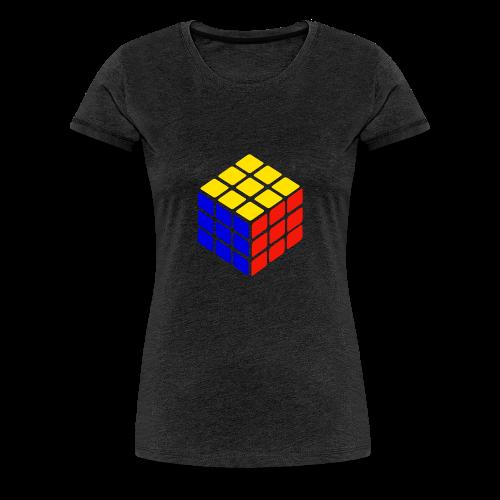 blue yellow red rubik's cube print - Vrouwen Premium T-shirt