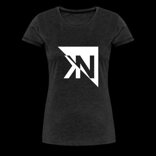 KN Logo halb invertiert - Frauen Premium T-Shirt