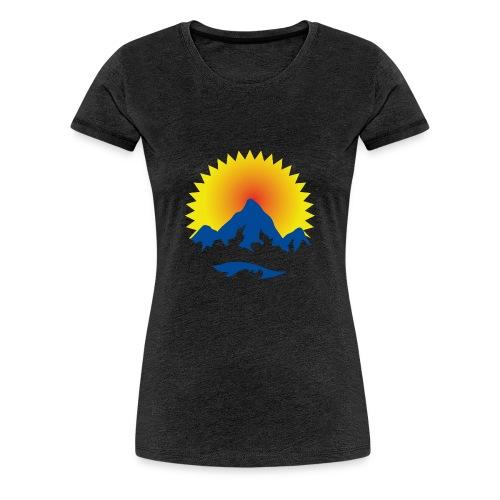 Alpenglüh'n pur - Frauen Premium T-Shirt
