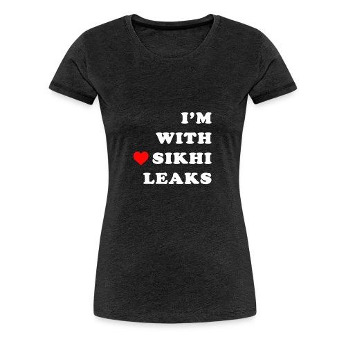 S-L-_I love SikhiLeaks - Women's Premium T-Shirt