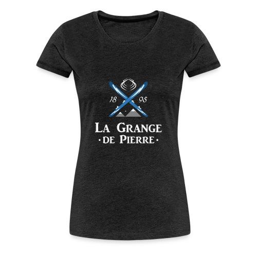 La Grange de Pierre Blue Cross Light - T-shirt Premium Femme