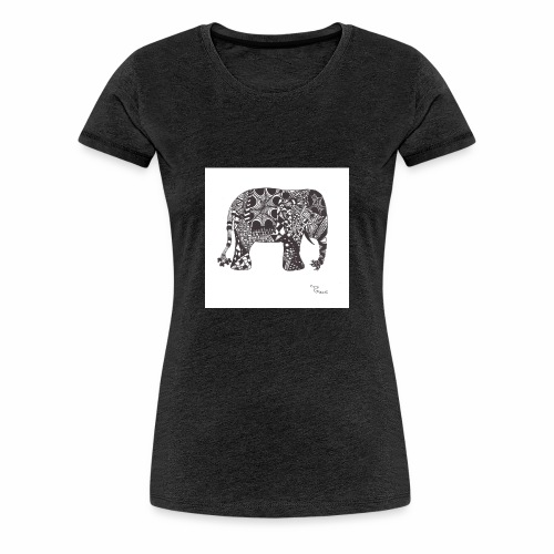 tangle-elephant print - Frauen Premium T-Shirt