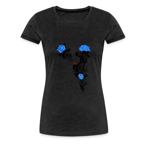 Blue Flowers - Camiseta premium mujer