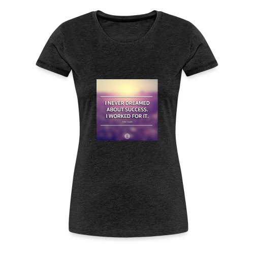 1440698865_graphic-quote-estee-lauder - Dame premium T-shirt