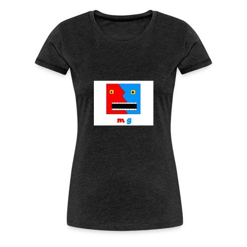button cool monster gamer - Premium T-skjorte for kvinner