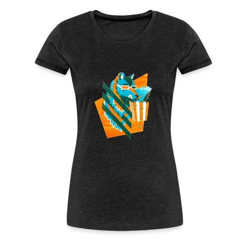 popcornwolf_logo_merch-0 - Vrouwen Premium T-shirt