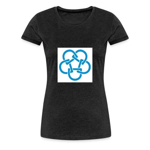 Diabetesf--rbundet_blomma__webb_pms - Premium-T-shirt dam