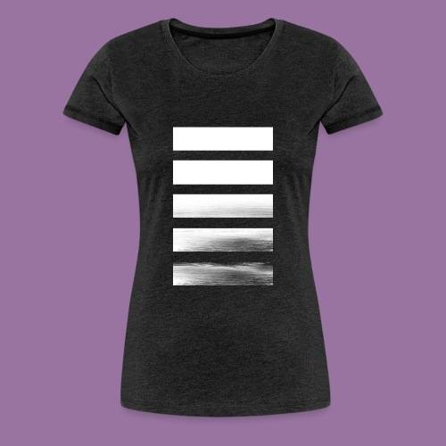 Stripes Horizontal White - Maglietta Premium da donna