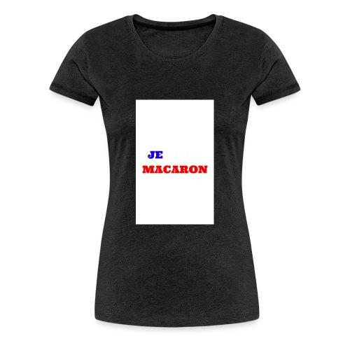 JE VOTE MACARON - T-shirt Premium Femme