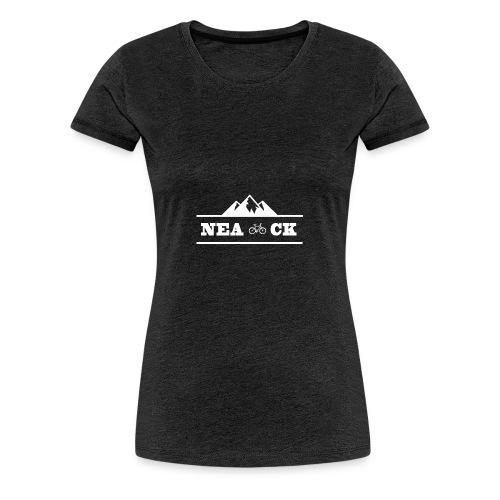 NeaCK hvit logo - Premium T-skjorte for kvinner