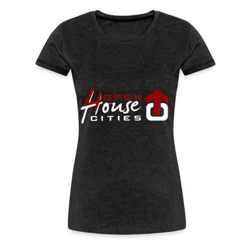 logo weiss - Frauen Premium T-Shirt