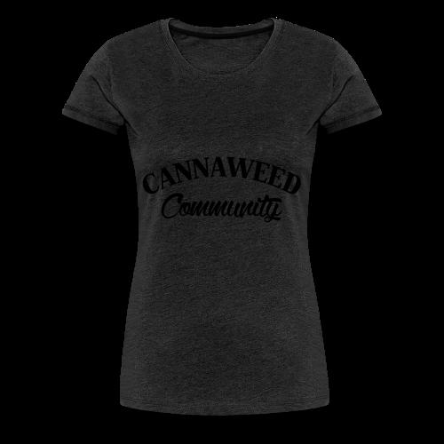 noir sur blanc CWD Communauté - T-shirt Premium Femme