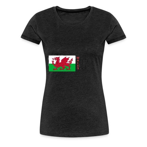 wales_letters - Women's Premium T-Shirt
