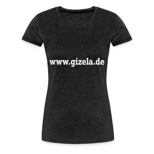 GIZELA web white - Frauen Premium T-Shirt