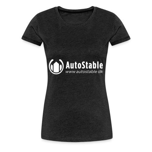 Vit_utan_bakgrund_vector_autostable_danmark - Premium-T-shirt dam
