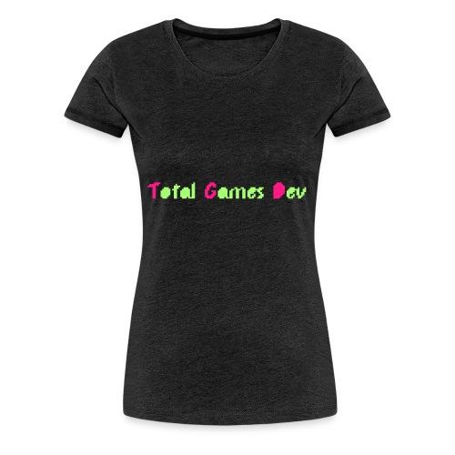 TotalGamesDev Text Logo - Women's Premium T-Shirt
